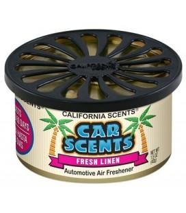 California Scents puszka zapachowa do auta Fresh Linen zapach świeżego prania