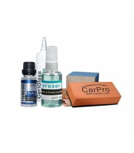 CarPro FlyBy30 Glass Coating Full Kit pełny zestaw niewidzialna wycieraczka na szyby 20ml